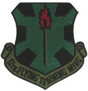 12th Flying Training Wing Subdued Air Force Patch