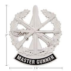 US Army Identification Badge Bright Silver Finish - Master Gunner