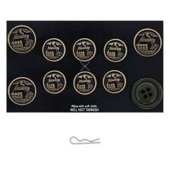 US Army AGSU Female Engineer Button Set