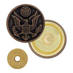 US Army AGSU Cap Screw Buttons - 25 Ligne