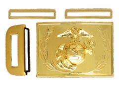 Dress Buckle With Emblem And Wreath Anodized Marine Corps