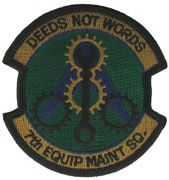 7th Equipment Maintenance Squadron Regular Air Force Patch