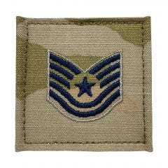Space Force Embroidered OCP With Hook Rank Insignia - Technical Sergeant