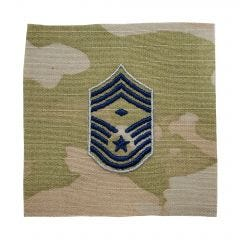 Space Force Embroidered OCP With Hook Rank Insignia - Chief Master Sergeant - First Sergeant