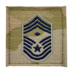 Space Force Embroidered OCP Sew-On Rank Insignia - Chief Master Sergeant - First Sergeant