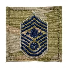 Space Force Embroidered OCP With Hook Rank Insignia - Chief Master Sergeant Of The Space Force