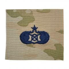 Space Force Embroidered OCP Sew-On Occupational Badge - Civil Engineer Readiness - Senior