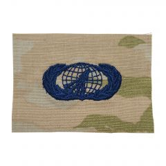 Space Force Embroidered OCP Sew-On Occupational Badge - Acquisition & Financial Management - Basic