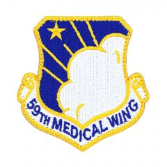 AIR FORCE PATCH, 59TH MEDICAL WING, REGULAR W/VELCRO