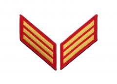 12 Year Gold on Red Marine Corps Service Stripes Female