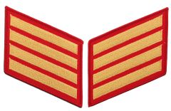 16 Year Gold on Red Marine Corps Service Stripes Male