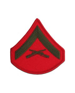 Corporal Green and Red Marine Corps Chevron Female