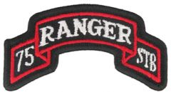 75th Ranger Special Troops Battalion Color Army Tabs Scroll