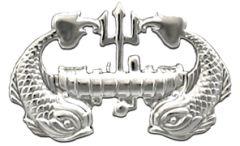 Deep Submergence Enlisted Brite Navy Badge
