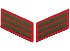 12 Year Green on Red Marine Corps Service Stripes Male