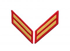 8 Year Gold on Red Marine Corps Service Stripes Female