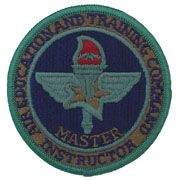 Air Education & Training Command Master Instructor Subdued Air Force Patch