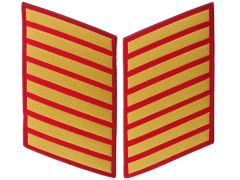 32 Year Gold on Red Marine Corps Service Stripe Male