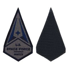 Space Force Embroidered With Hook Subdued Service Patch