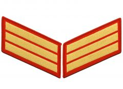 12 Year Gold on Red Marine Corps Service Stripes Male