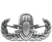 Explosive Ordnance Disposal EOD Basic Silver-Ox Navy Badge