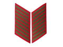 32 Year Green on Red Marine Corps Service Stripes Female