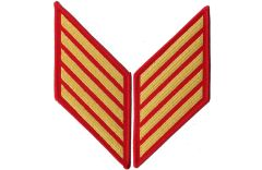 20 Year Gold on Red Marine Corps Service Stripes Female