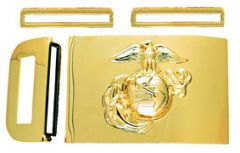 Buckle With Emblem Anodized Marine Corps