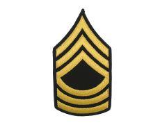 ARMY CHEVRON  MASTER SERGEANT  GLD/BLU  LARGE