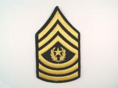 ARMY CHEVRON  COMMAND SERGEANT MAJOR  GLD/BLU  LARGE