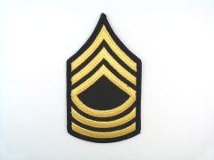 ARMY CHEVRON  MASTER SERGEANT  GLD/BLU  SMALL