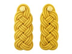 ARMY SHOULDER KNOT  SYNTHETIC GOLD LEFT & RIGHT  MALE