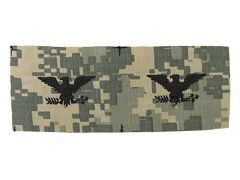 ARMY CAP DEVICE  COLONEL  ACU-SEW ON