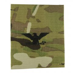 Army Embroidered OCP Sew-On Rank Insignia - Colonel (COL)