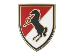 11TH ARMORED CAVALRY  COMBAT SERVICE IDENTIFICATION BADGE