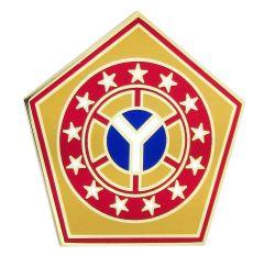 108TH SUSTAINMENT BRIGADE, COMBAT SERVICE IDENTIFICATION BADGE