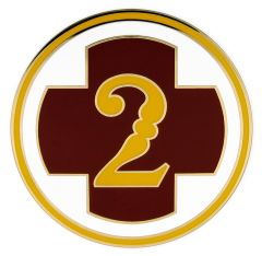 2nd Medical Brigade Combat Service ID Badge