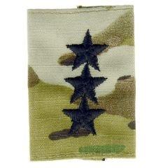 Army Embroidered Gore-Tex OCP Jacket Tab - Lieutenant General (LTG)