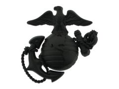MARINE CORPS CAP DEVICE, OFFICER SERVICE BLACK