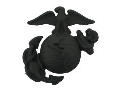 MARINE CORPS CAP DEVICE, ENLISTED SERVICE BLACK