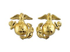 Enlisted Dress Marine Corps Collar Device Anodized