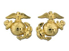 Enlisted Dress Marine Corps Collar Device Polished Brass
