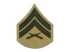 Corporal Green and Khaki Marine Corps Chevron Male