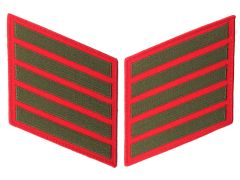 20 Year Green on Red Marine Corps Service Stripes Male