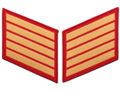 20 Year Gold on Red Marine Corps Service Stripes Male
