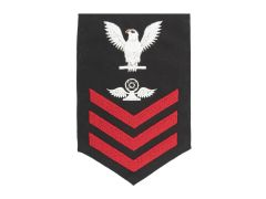 NAVY RATING BADGE, AIR TRAFFIC CONTROLLER E6, SERGE