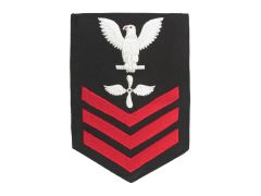 NAVY RATING BADGE, AVIATION MACHINIST'S MATE E6, SERGE