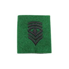 ARMY TAB, LEADERSHIP 1ST SERGEANT EMBROIDERED, BLACK/GREEN
