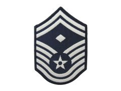 AIR FORCE CHEVRON, SENIOR MASTER SERGEANT W/DIAM, FULL COLOR, SMALL