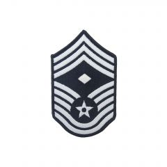 AIR FORCE CHEVRON, CHIEF MASTER SERGEANT W/DIAM, FULL COLOR, SMALL